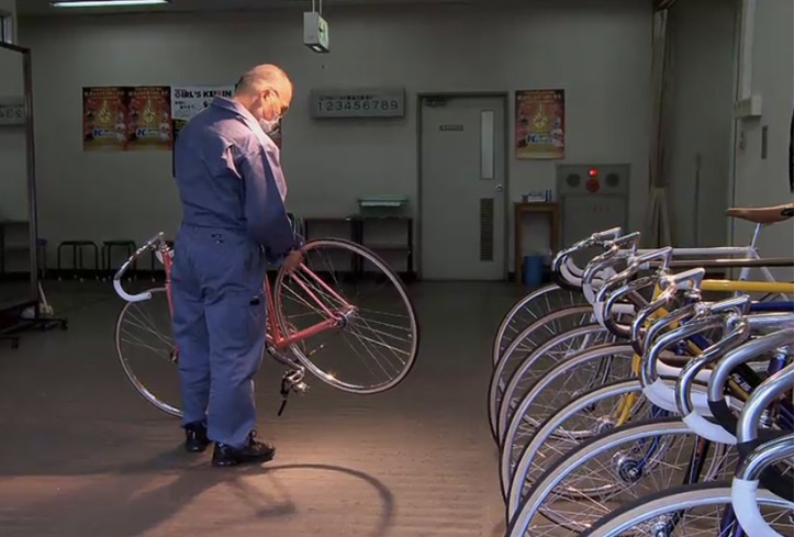 Riding high with Japan's technicolor Keirin cyclists