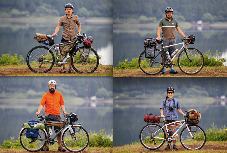 Riding around Mount Fuji, climbing Mount Mihara and camping on Izu Oshima