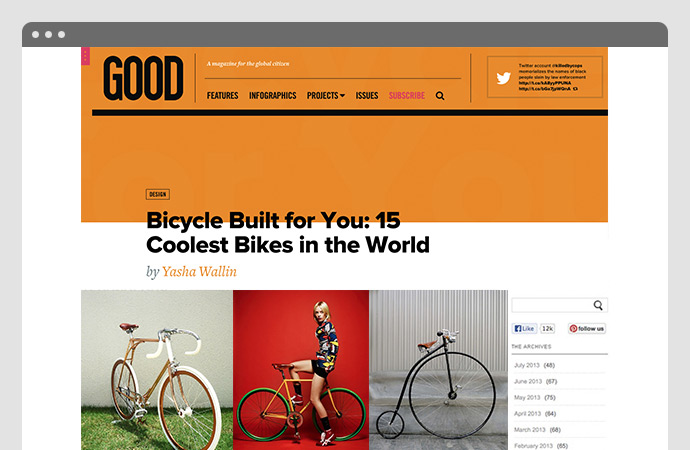 Bicycle Built for You: 15 Coolest Bikes in the World